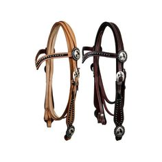 Showman V-Brow Headstall with Conchos ($50) ❤ liked on Polyvore