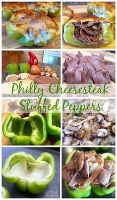 Philly Cheesesteak Stuffed Peppers - Low Carb, Gluten Free  via @PeaceLoveLoCarb