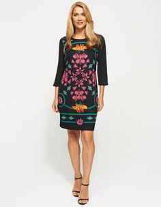 Tropical Print Dress from JacquiE