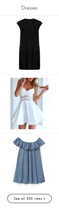 """""""Dresses"""" by lulaa-a ❤ liked on Polyvore featuring dresses, vestidos, платья, black, suede t shirt dress, muubaa, t-shirt dresses, open-back dresses, round neck t shirt dress and robe"""