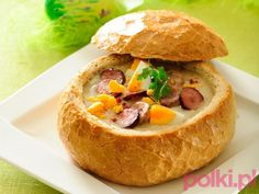 Żurek domowy - przepis, składniki i przygotowanie -Przepisy kulinarne - przepis Soup Recipes, Great Recipes, Dinner Recipes, Cooking Recipes, Sour Cabbage, Poland Food, Polish Recipes, How To Make Salad, Everyday Food