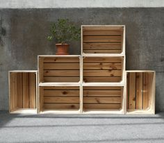 Crate Storage, Wooden Crates, Outdoor Furniture, Outdoor Decor, Rustic, Projects, Crate Ideas, Design, Home Decor