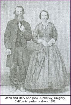 Dunkerley Mary Ann and John Gregory