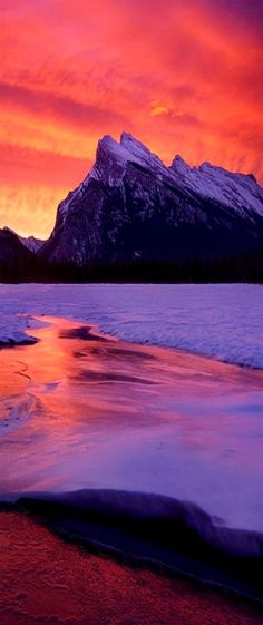 """Banff, Canada, """"Catching Fire"""" by Vincent Piotrowski"""