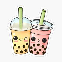 Tea Wallpaper, Cute Tumblr Wallpaper, Wallpaper Stickers, Cute Wallpapers, Cute Food Drawings, Kawaii Drawings, Doodle Drawings, Bubble Tea, Printable Stickers