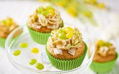 Easter Nest Coconut and Lime Cupcakes