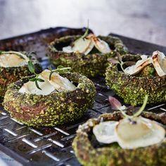 Smoke Grill, Barbecue Recipes, Bagel, I Foods, Great Recipes, Stuffed Mushrooms, Veggies, Cooking, Breakfast