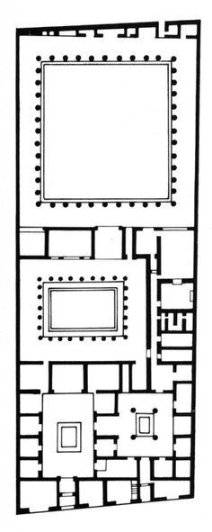 House of the Faun, Plan, Pompeii, Second Century B.C.
