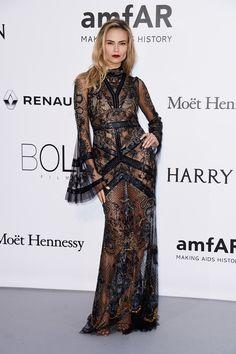 amfAR - Cannes 2016: Natasha Poly in Roberto Cavalli.