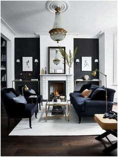Fabulous Gorgeous Black Living Room Ideas With Gorgeous Black Living Room Ideas. Trendy Gorgeous Black Living Room Ideas With Gorgeous Black Living Room Ideas. Fabulous Gorgeous Black Living Room Ideas With Gorgeous Black Living Room Grey, Living Room Sets, Interior Design Living Room, Home And Living, Black Living Room Furniture, Black White And Grey Living Room, Grey Interior Design, Modern Living Room Designs, Black And White Interior