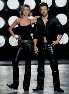 jennifer aniston Mark Wahlberg poster, mousepad, t-shirt, Jennifer Aniston 90s, Jennifer Aniston Pictures, Divas, Mens Leather Pants, Leather Boots, Hairstyles Over 50, Mark Wahlberg, How To Pose, Mom Outfits