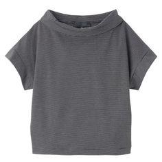 [L]オフタートルボーダーカットソー(UNTITLED [アンタイトル] のTシャツ) iQON