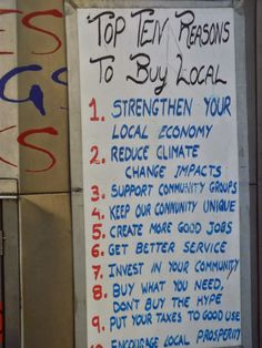 Crafty Green Poet: Ten Reasons to buy local