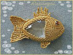 Schéma Doris le petit poisson - schémas pendentifs chez Alexargai - Pendentifs - Bijoux en perles - DaWanda