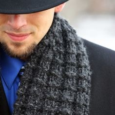 Knitting pattern for an easy scarf knits up fast on big needles.  Makes a great gift!