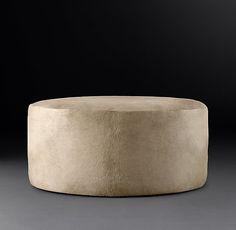 Cooper Hair-On-Hide Round Ottoman