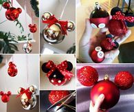 DIY Mickey and Minnie Mouse Ornaments