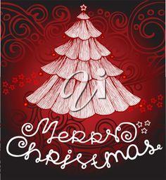 iCLIPART - Decorative Christmas Tree Illustration