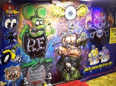 Wall in my custom paint studio