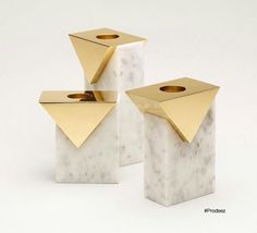 Marble candleholder by Hava Studio courtesy of Prodeez