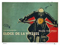 'l'homme à la moto' ELOGE DE LA VITESSE© - deluxe poster by lorenzo eroticolor