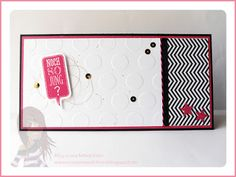 Stampin' Up! rosa Mädchen: Geburtstagskarte mit Ganz schön aufgeblasen, Sprechblase, Designerpapier und Prägefolder Große Punkte