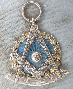 Early 14k Yellow Gold Enameled Floral Hand Etched Masonic Medal Pendant .  Visit Renaissance Fine Jewelry and Renaissance Fine Antiques of New England in Vermont. www.vermontjewel.com, eBay or Ruby Lane.