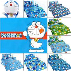TOTO Doraemon Bed Sheets Cartoon King Bedroom Bedding Cover Pillowcase Kid Soft #TOTO #Cartoon