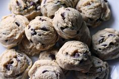 Chocolate Chip Dough Balls... the hybrid of cookie dough and the cookie.  Oh. My. Stars.