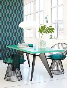 50er Jahre Charme mit Smaragdgrün - Trendfarbe Smaragdgrün 1 - [SCHÖNER WOHNEN]