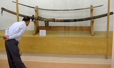Odachi / nodachi made by 三家正吉 Sanie Masayoshi (dated 1843) Blade length: 224 cm