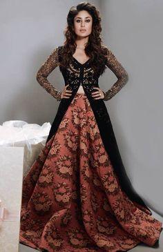 Kareena Kapoor Khan in Sabyasachi for Femina India Anarkali Frock, Lehenga Choli, Sabyasachi Dresses, Floral Lehenga, Frock Design, Pakistani Outfits, Indian Outfits, Pakistani Kurta, Indian Attire