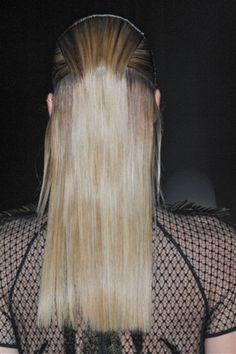 Gucci - keep'em straight. #hair #inspiration #runway
