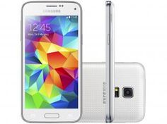"Smartphone Samsung S5 Mini Duos 3G Dual Chip - Android 4.4 Câm. 8MP Tela 4,5"" Proc. Quad Core"