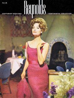 Vintage Ribbon Knitting Crochet Patterns 1960s Couturier Elegant Sophisticated Dresses Suits Coats PDF Digital Download