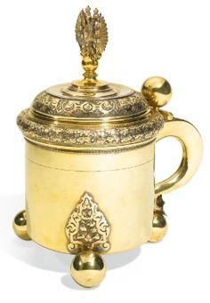 A Fabergé Imperial Presentation jewelled silver-gilt tankard, workmaster Stefan Wakeva (Väkevä), St Petersburg, 1899-1903