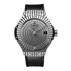 La montre hypnotique Big Bang Steel Caviar d'Hublot