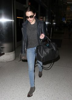 'Game Of Thrones' actress Emilia Clarke departing on a flight at LAX airport in Los Angeles,