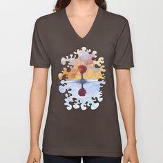 As Above So Below  No15 V-neck T-shirt Gifts For An Artist, V Neck T Shirt, Mens Tops, Shirts, Shopping, Women, Fashion, Moda, Fashion Styles