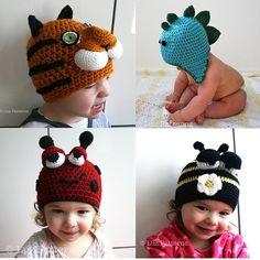 Black Friday sale Crochet animal hat by LuzCrochetPatterns on Etsy, $35.00