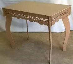 Resultado de imagen para mesas de mdf para festas Unique Furniture, Table Furniture, Furniture Making, Cardboard Furniture, Cardboard Crafts, Diy Projects To Try, Decoration, Entryway Tables, Creations