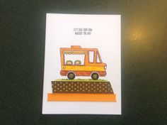 Stampin Up Tasty Trucks Card