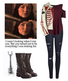 Addy Carver - Z nation by shadyannon on Polyvore featuring polyvore fashion style Boohoo Frame Denim Kelsi Dagger Brooklyn clothing