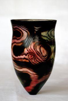 Bifrost Series - Vase - Thin wall Ash + Fire + Dye - Alan Steele - & Bifrost Series - Vase - Thin wall Ash + Fire + Dye - Alan Steele ...