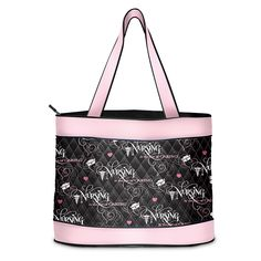 Nurse Tote Bag: The Art Of Caring by The Bradford Exchange. Nurse tote bag pays special tribute to nursing professionals with a caring message, a debut fashion exclusive from The Bradford Exchange. Custom crafted of softly quilted, polyester fabric in a striking color combination of black and pink. Imported. Fashionable take-anywhere tote features nursing symbols, including pink hearts, white nurses' caps, and a caduceus winged medical symbol against a black background with a pink and…
