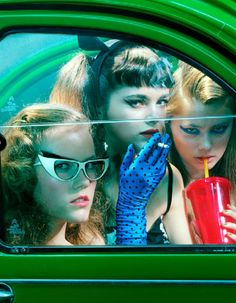 """""""Beauty"""", Photographed By Miles Aldridge For Vogue Italia, May 2014"""