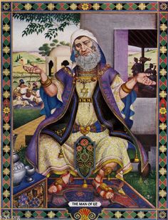 Arthur Szyk, 1946. The Man of Uz from The Book of Job. New York: