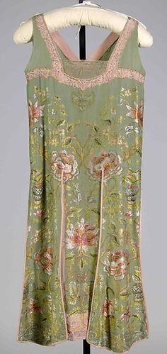 Flapper Dress, ca. 1926, French silk & metallic.
