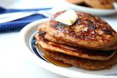 Gingerbread Chocolate Chip Pancakes (Low Carb and Gluten Free plus the regular kind)