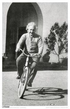 Albert Einstein - Bike Impressão original